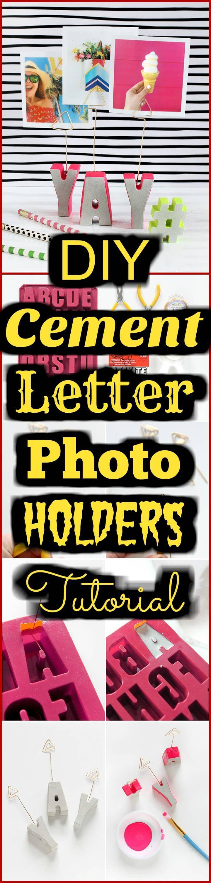 easy cement letter photo holders tutorial