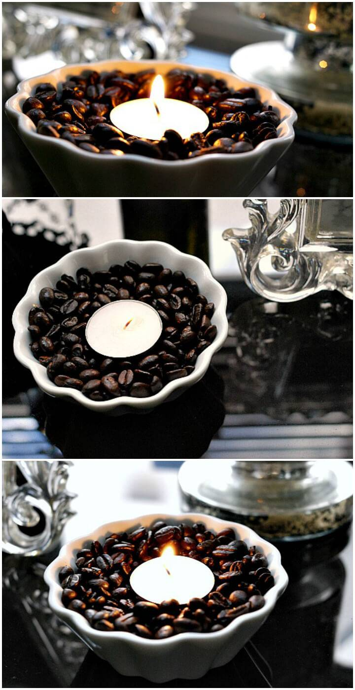 easy coffee bean votive