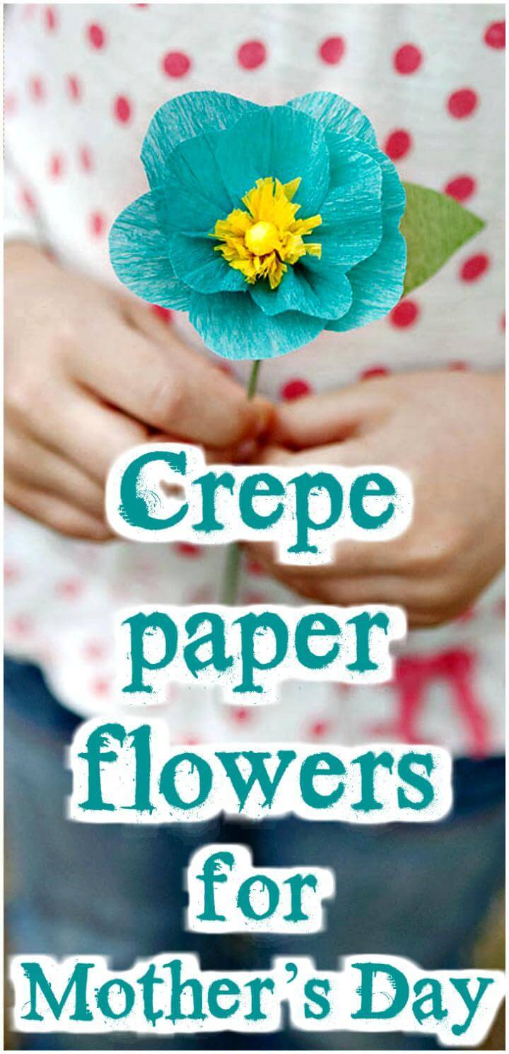 handgemachte Krepppapierblumen für Muttertag