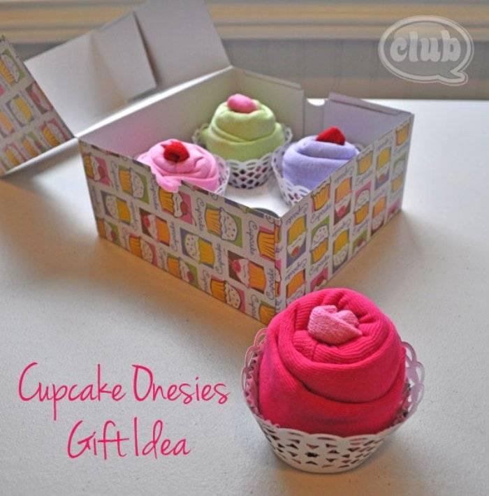 easy cupcake onesies baby gift basket
