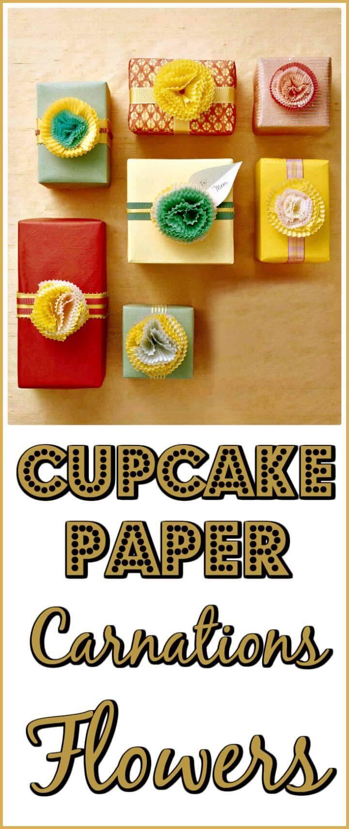 easy handmade cupcake paper carnations