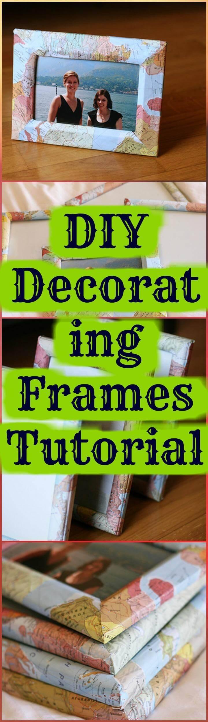 DIY decorating frames tutorial