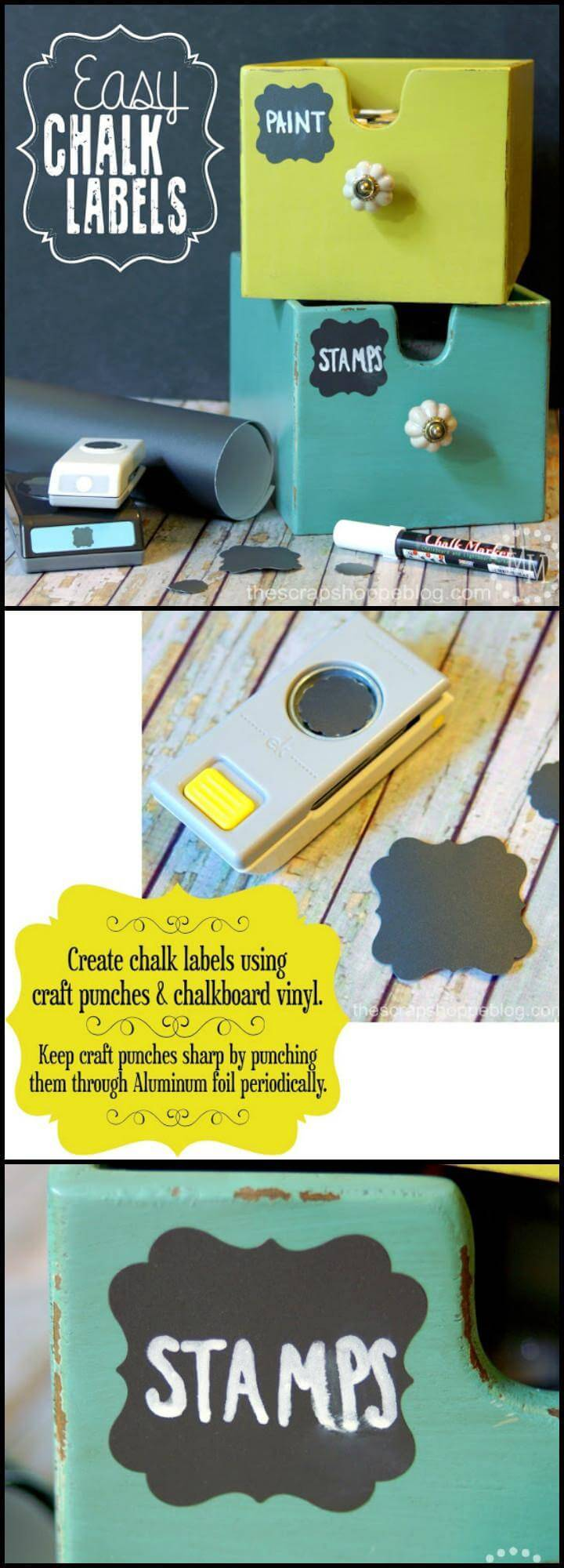 DIY super easy yet pretty chalk labels
