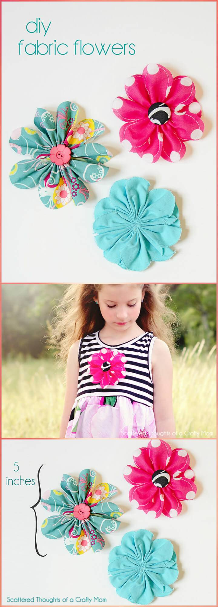 easy yet beautiful fabric flower tutorial