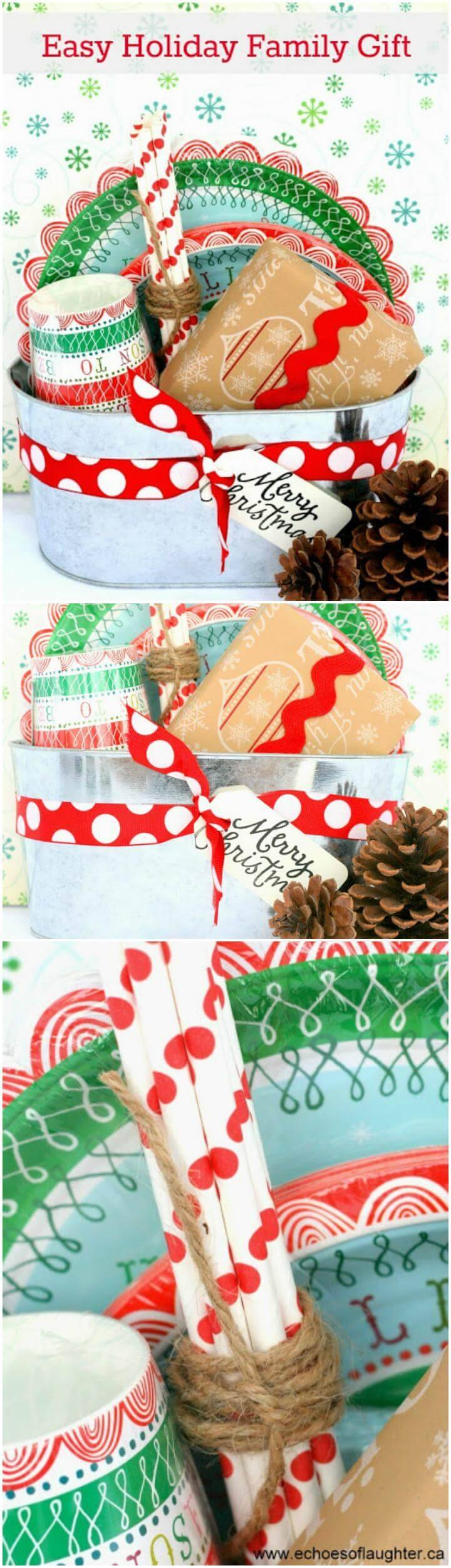 easy handmade holiday family gift basket