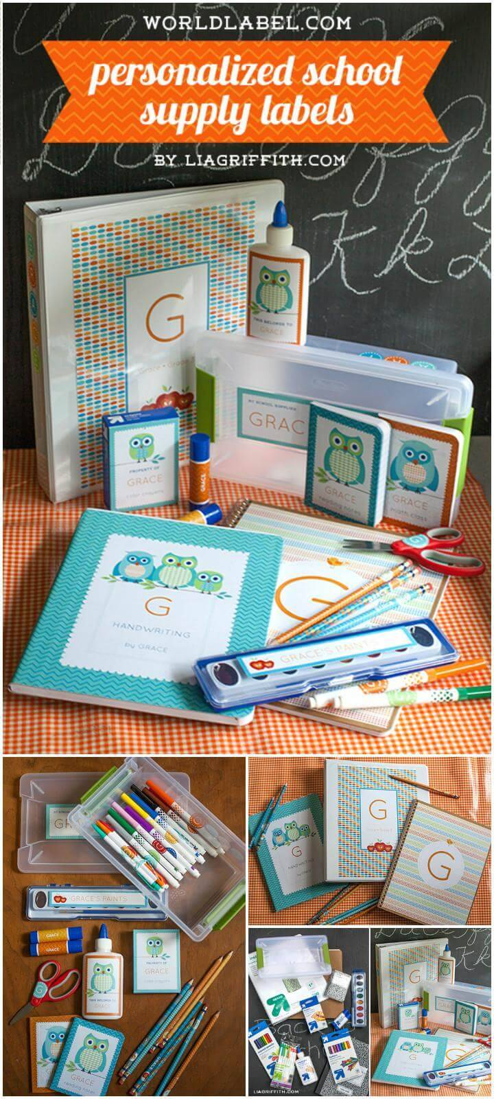 easy personalized school supply labels