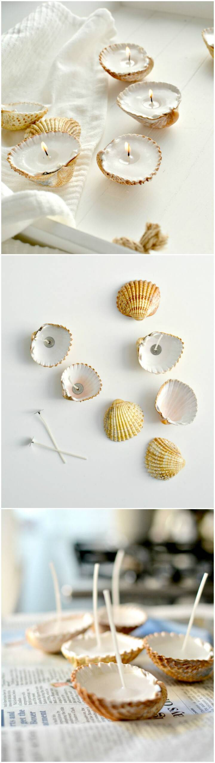 quick-to-make shell candle holders