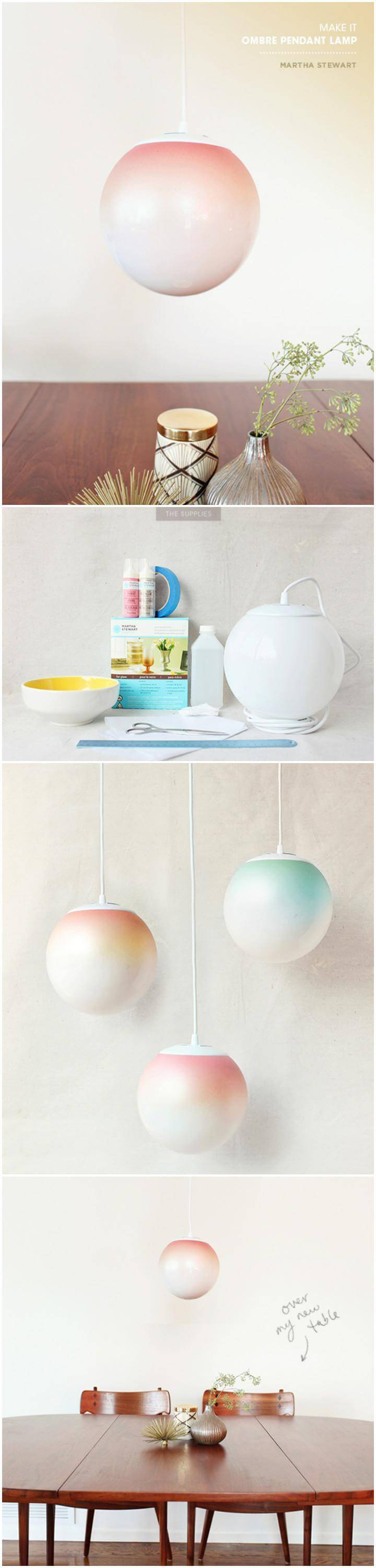 easy spray painted glass pendant