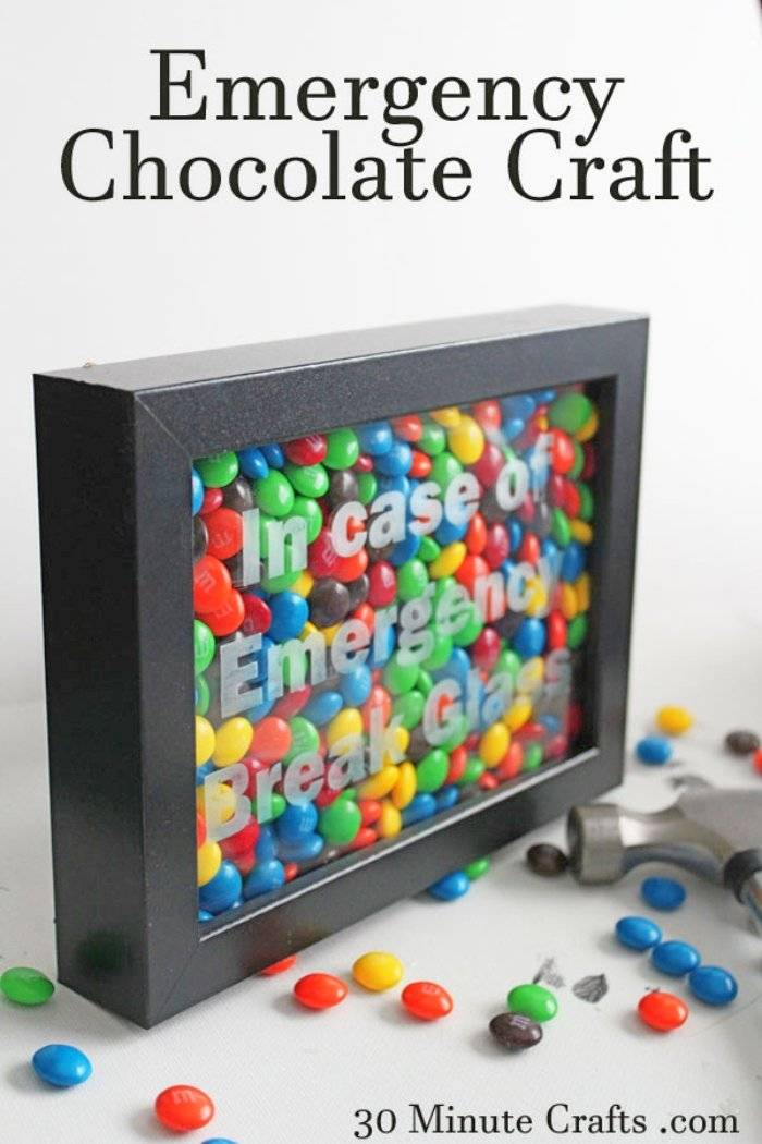 handcrafted emergency chocolate gift craft