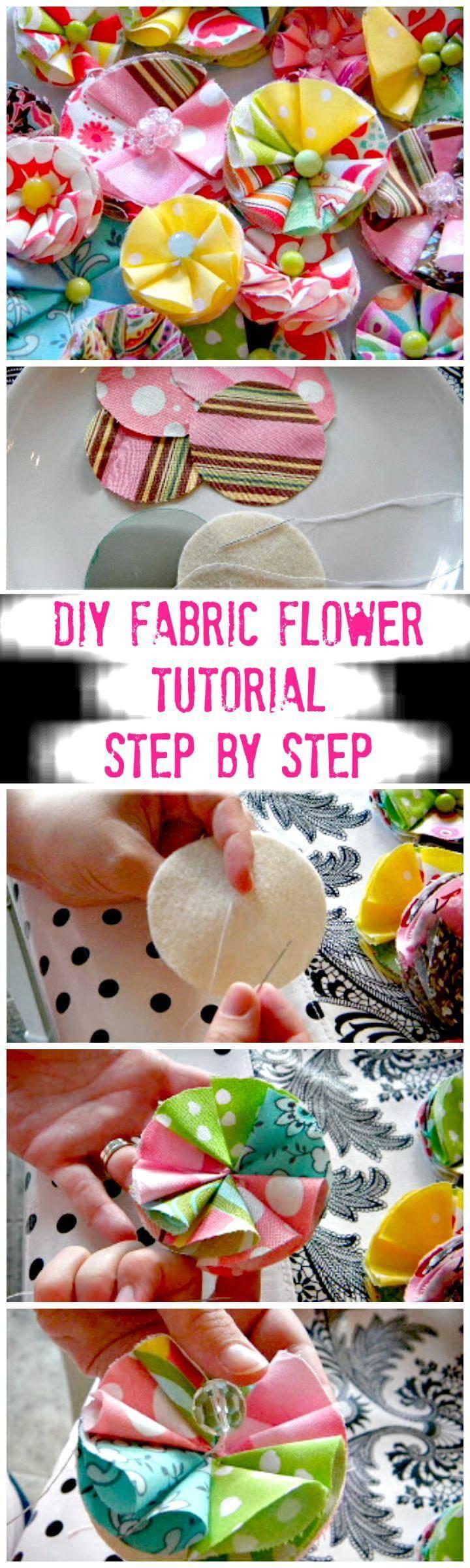 precious handmade fabric flower