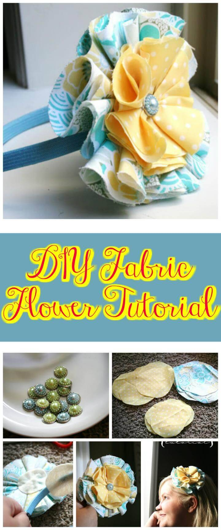 Perfect fabric flower tutorial