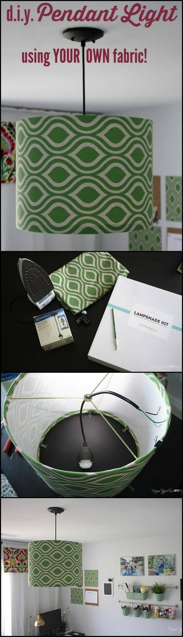 easy fabric pendant light