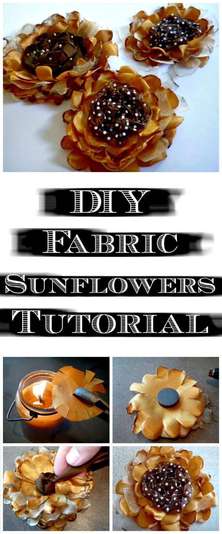 handcrafted fabric sunflowers tutorial
