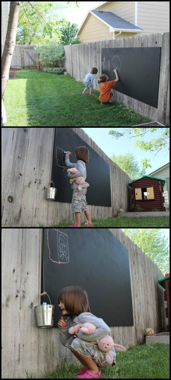 handmade fence black board