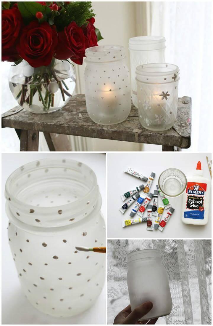 super beautiful and easy Mason jar votive