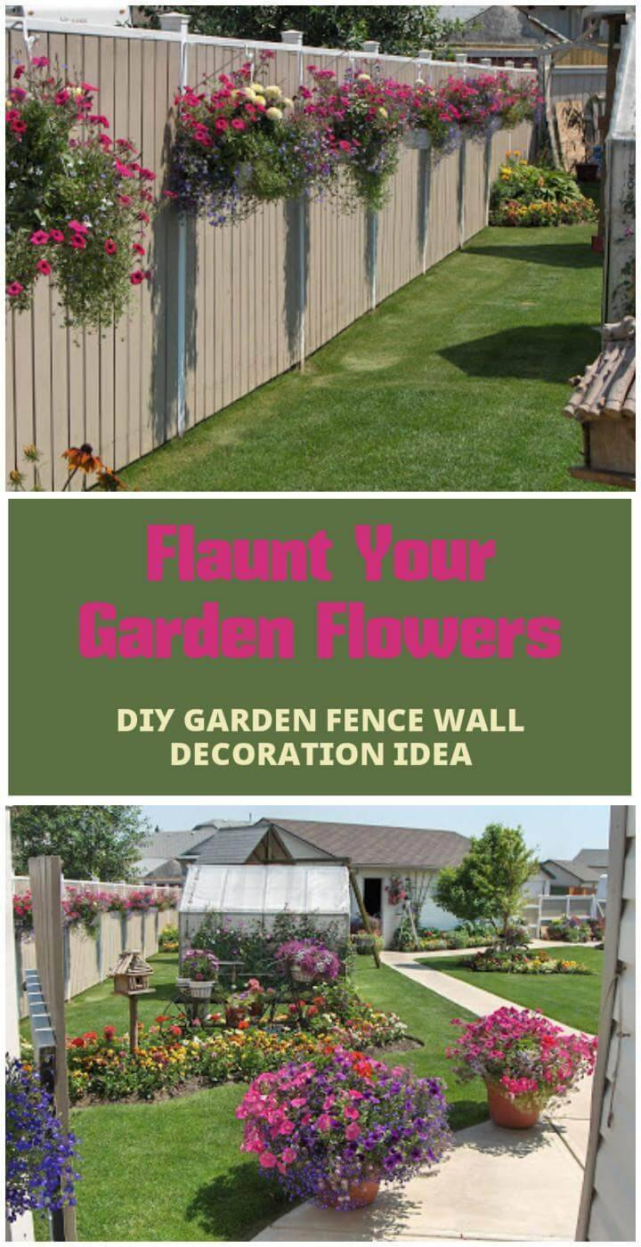 easy garden flower fence wall decorations