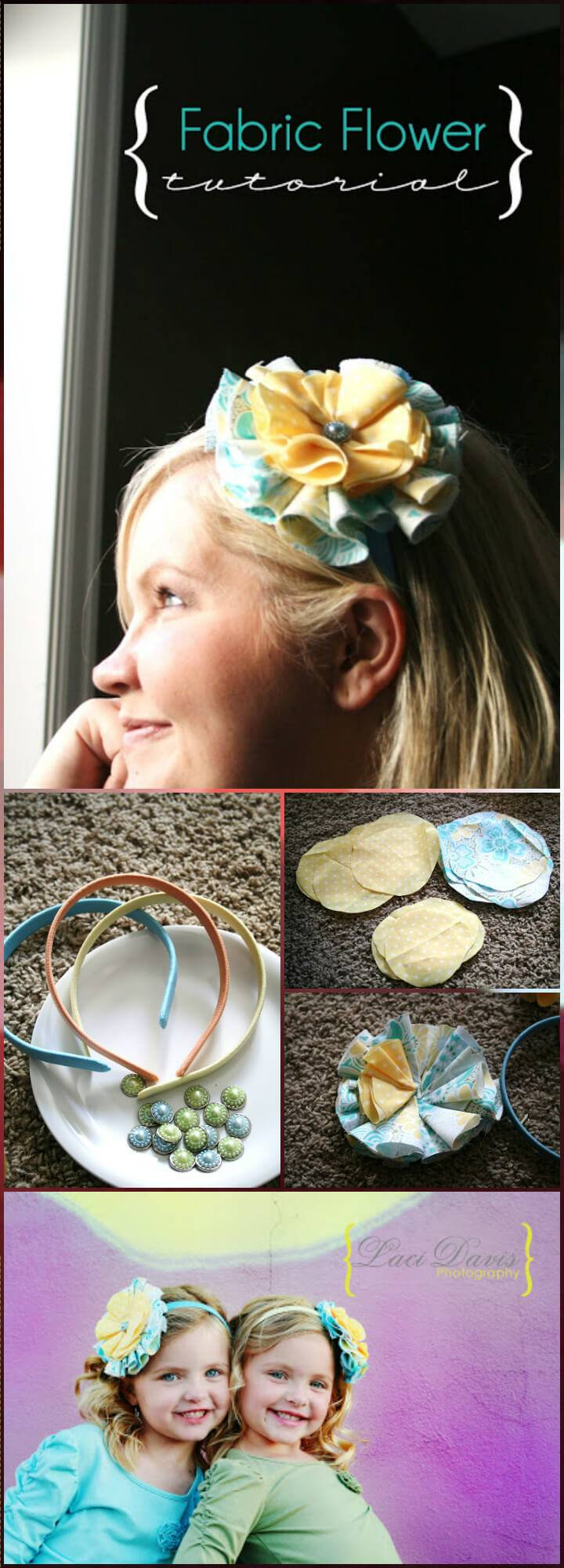 DIY Handmade hair-catcher fabric flower