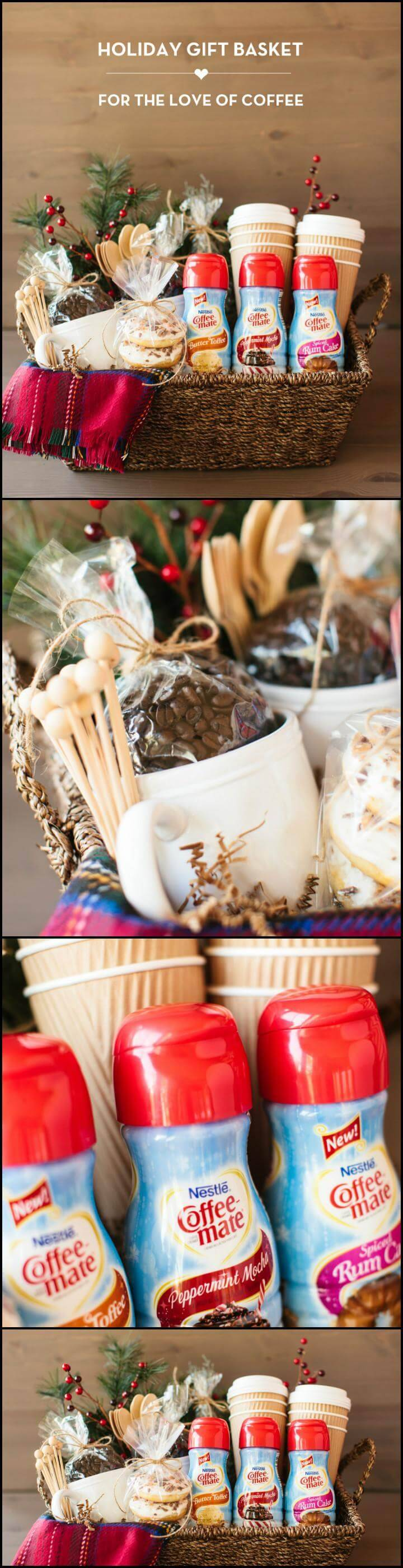 easy holiday coffee lover gift basket