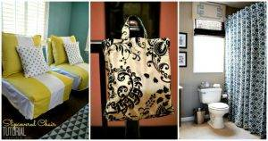 DIY Home Decor Projects Using Old Curtains