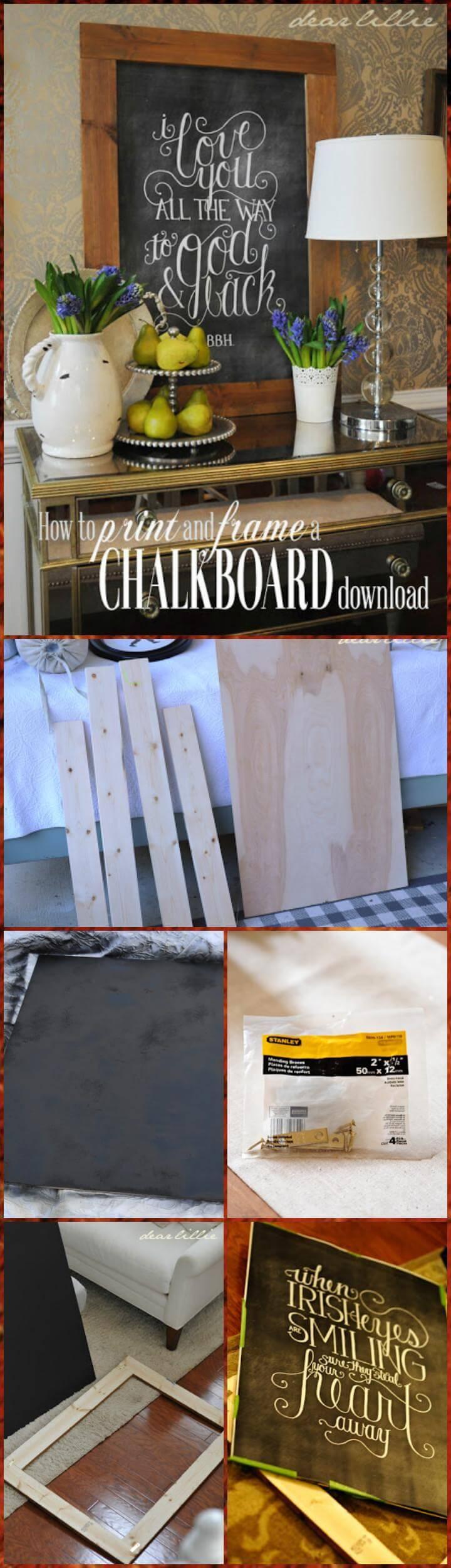 downloading a chalkboard frame tutorial