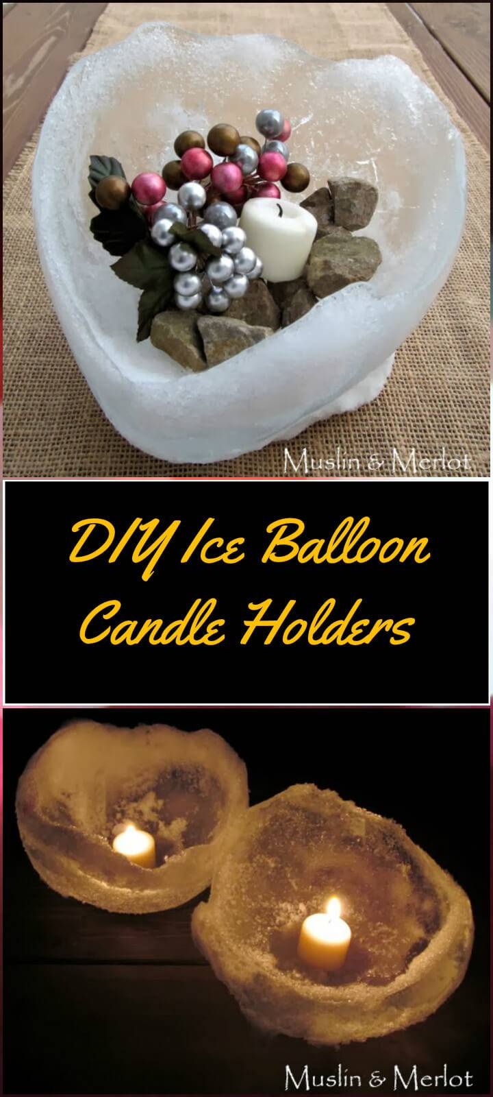 easy ice balloon candle hiolders