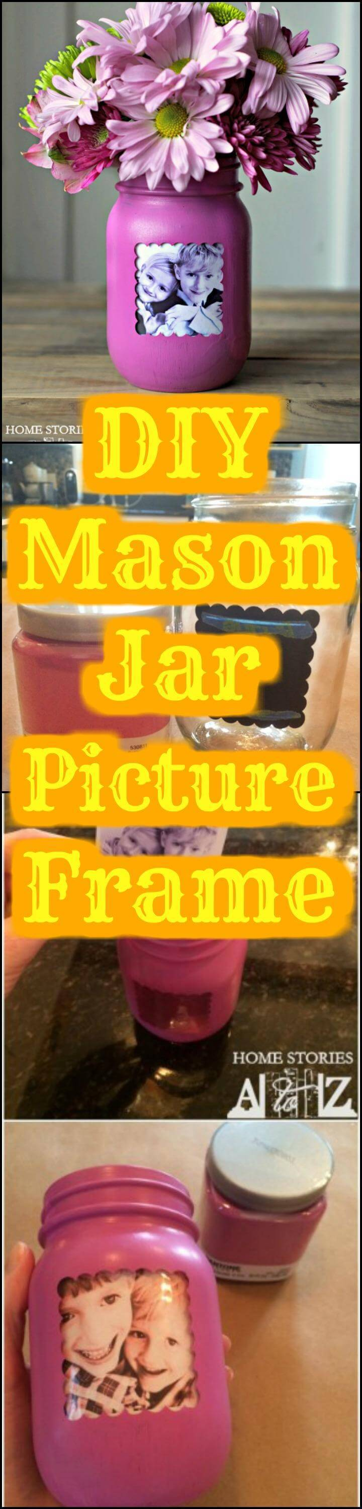 easy Mason jar picture frame tutorial
