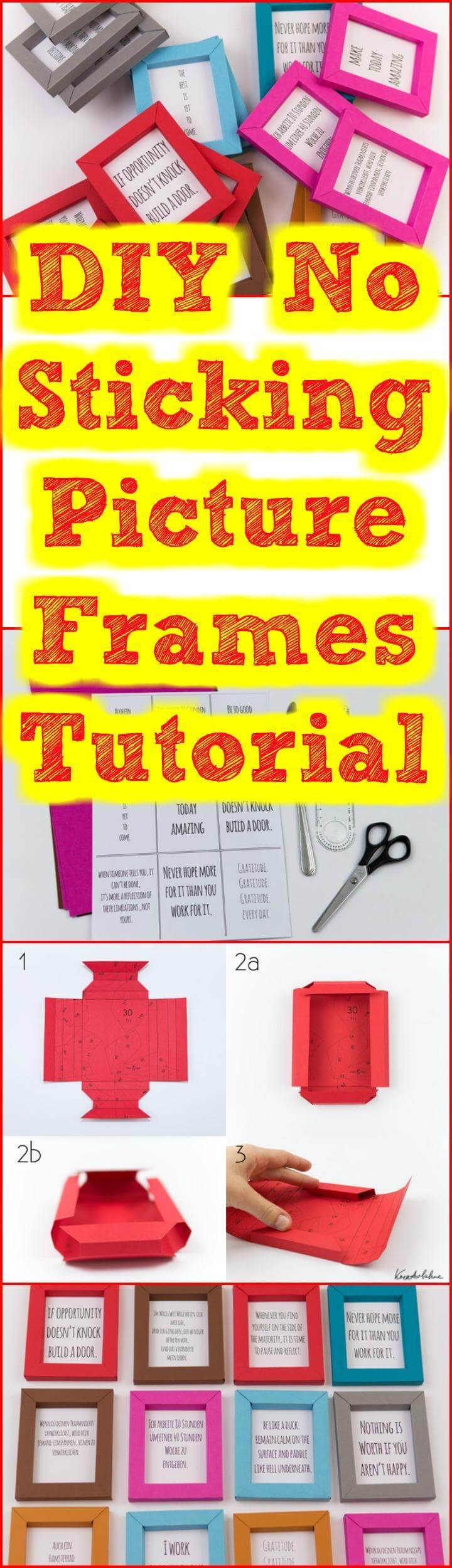 easy no-sticking picture frame tutorial