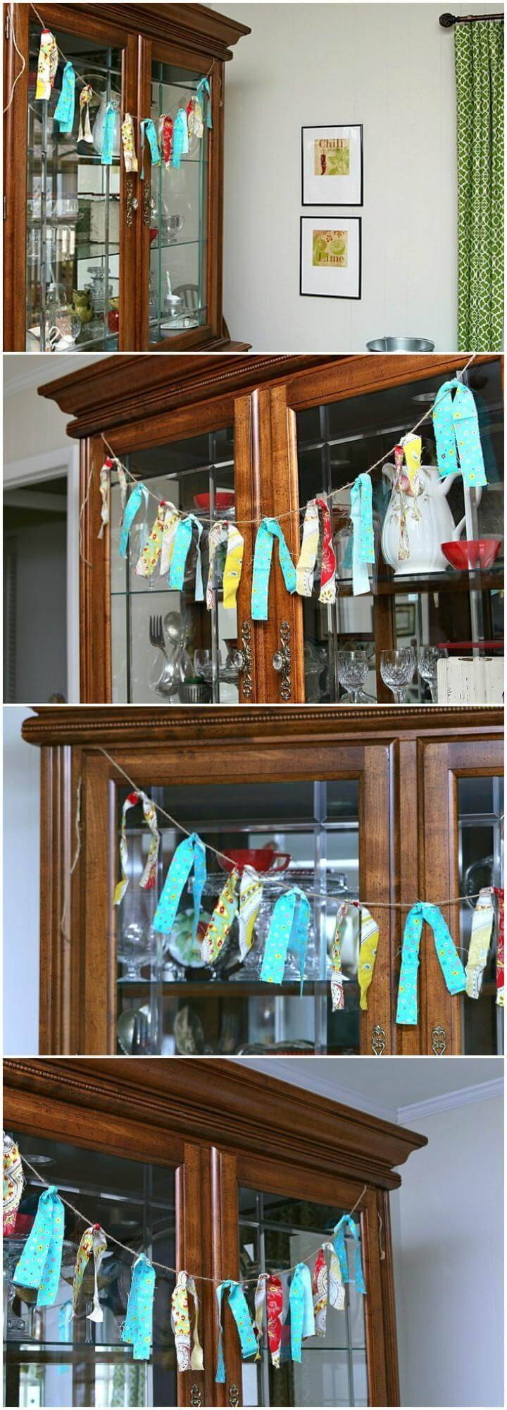 beautiful garland made out of old curtain