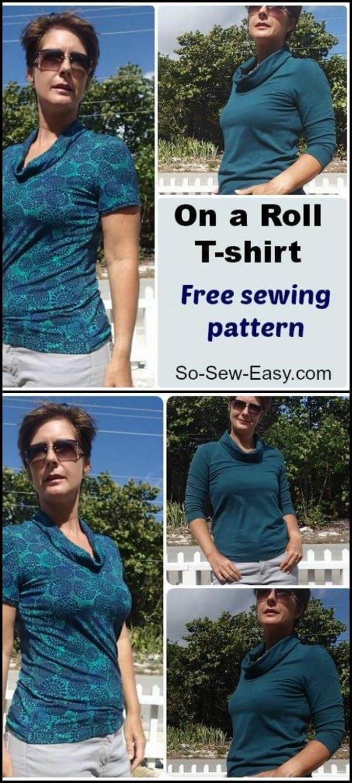stylish on a roll t-shirt free sewing pattern