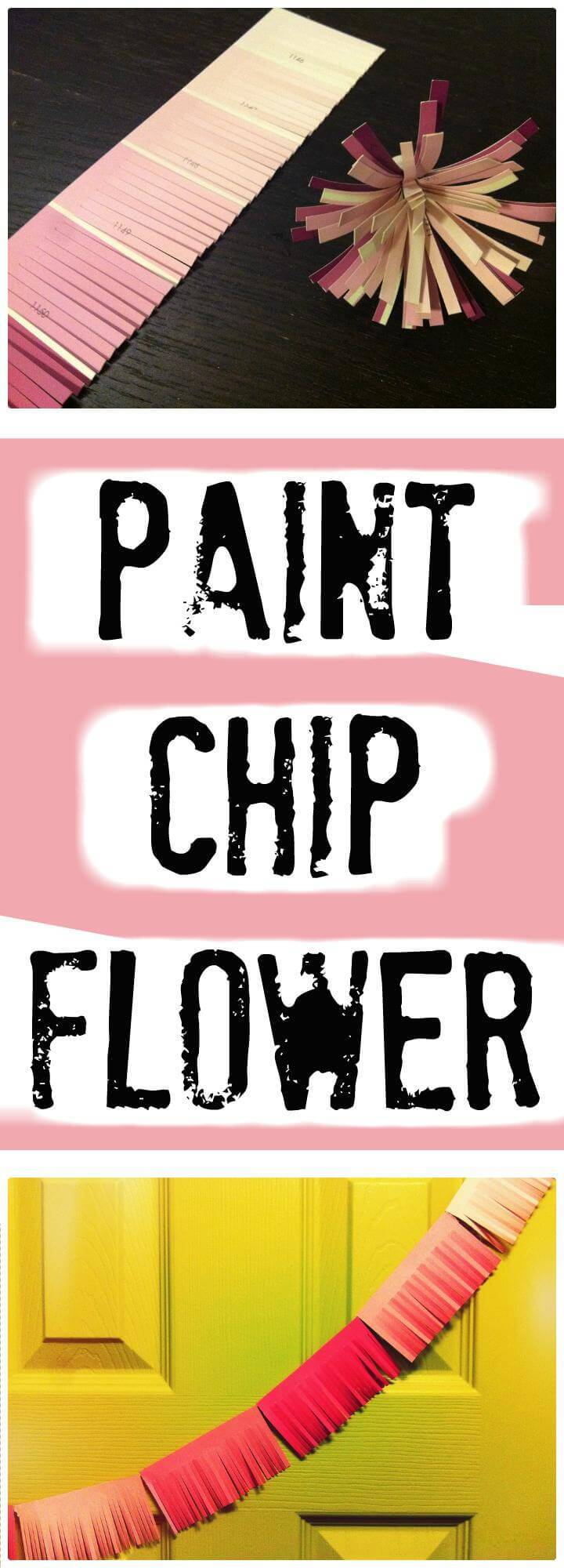 handmade paint chip flower