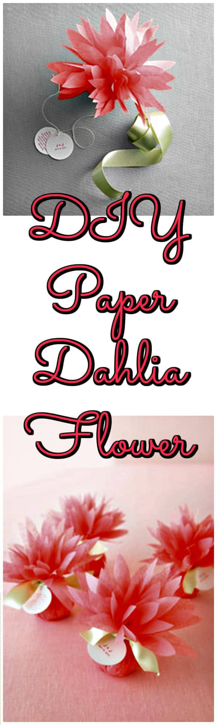 gift-worthy DIY paper dahlia flower