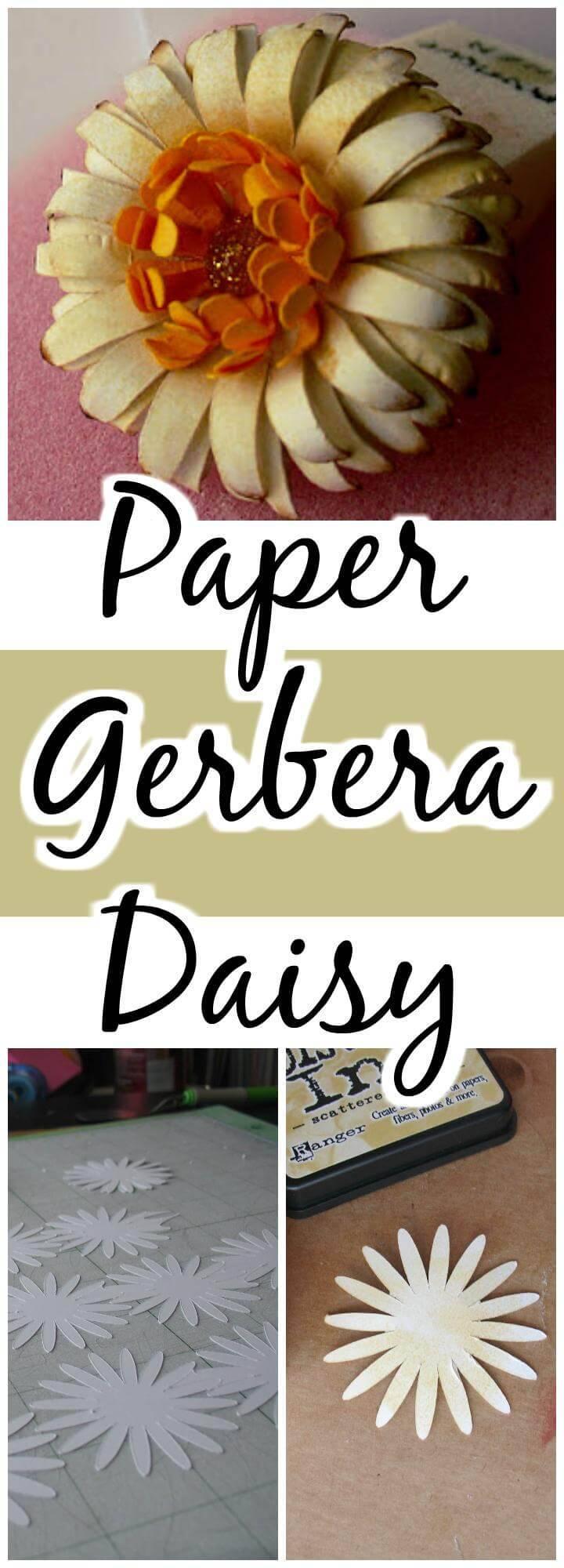 handmade paper gerbera daisy