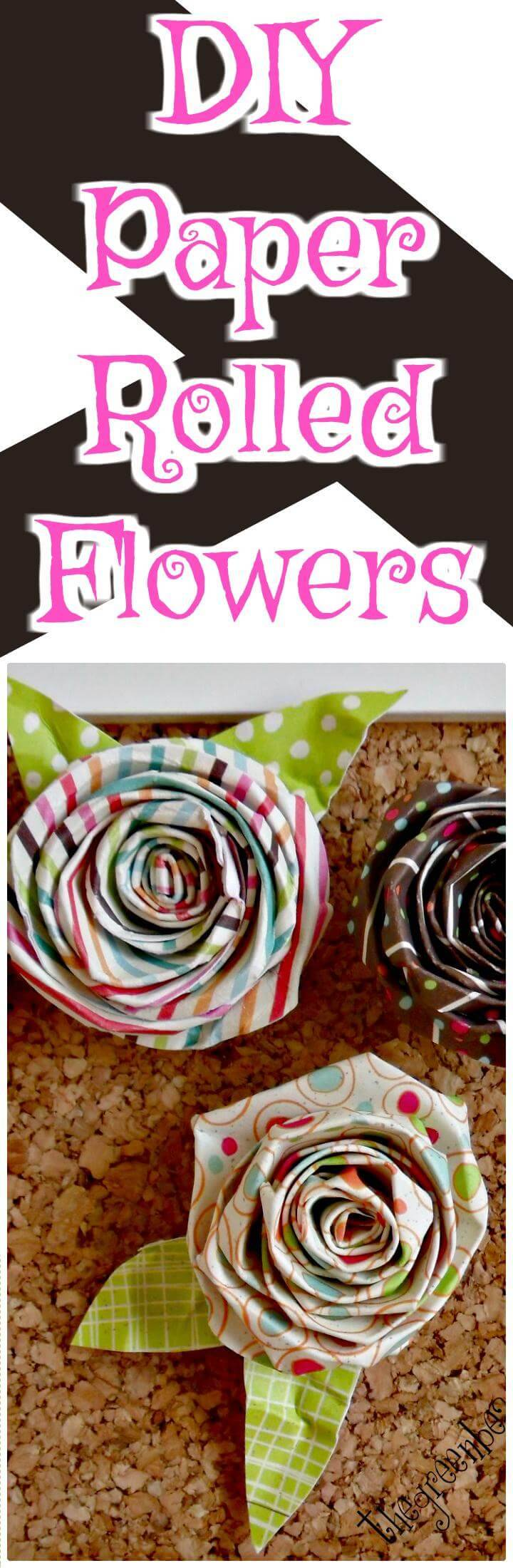 easy handmade paper rolled flowers