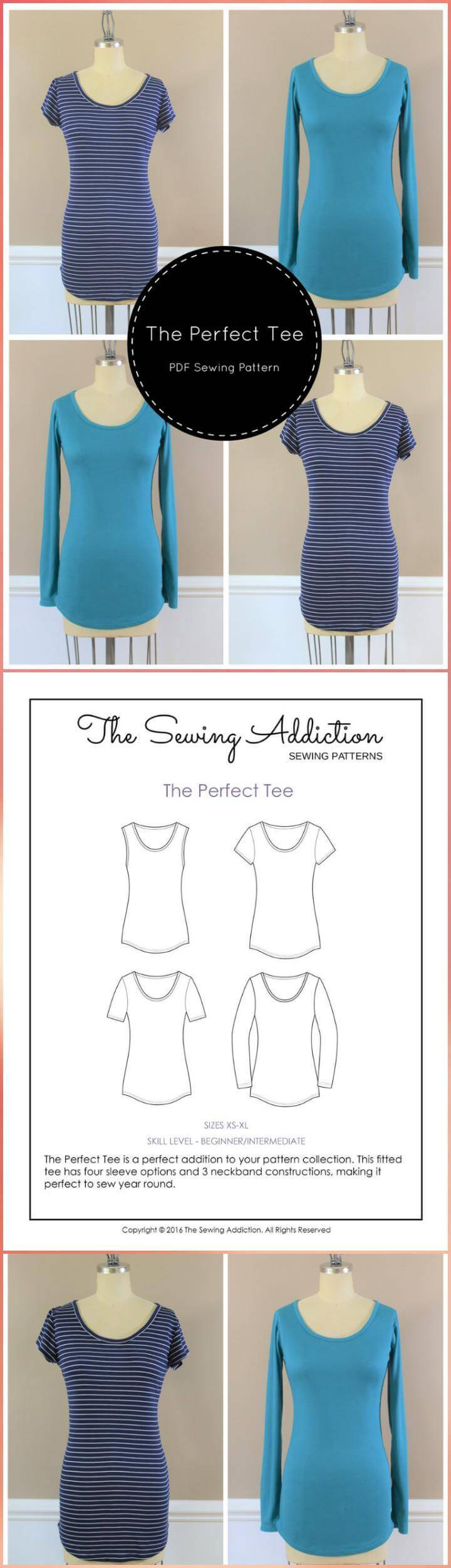 DIY perfect tee free pattern