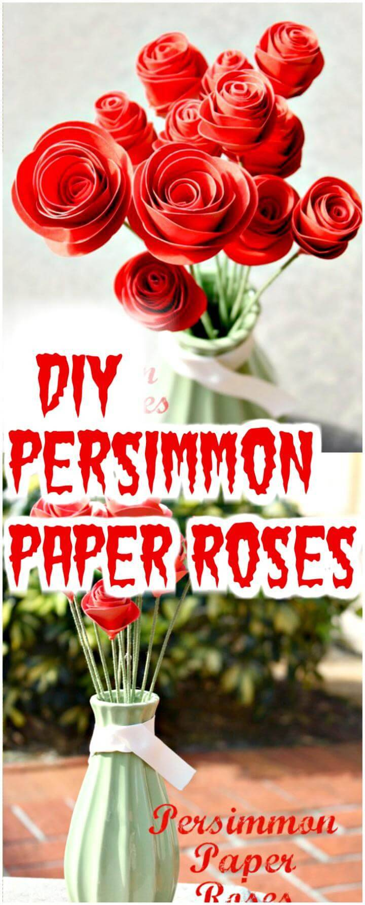 easy persimmon paper roses