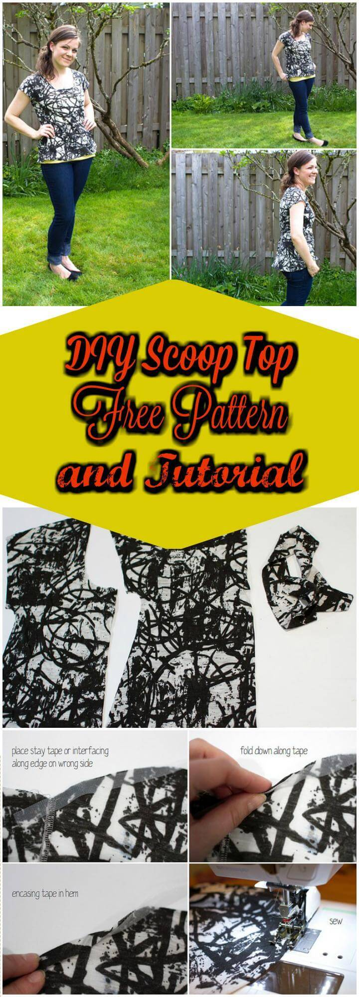 easy scoop top free pattern