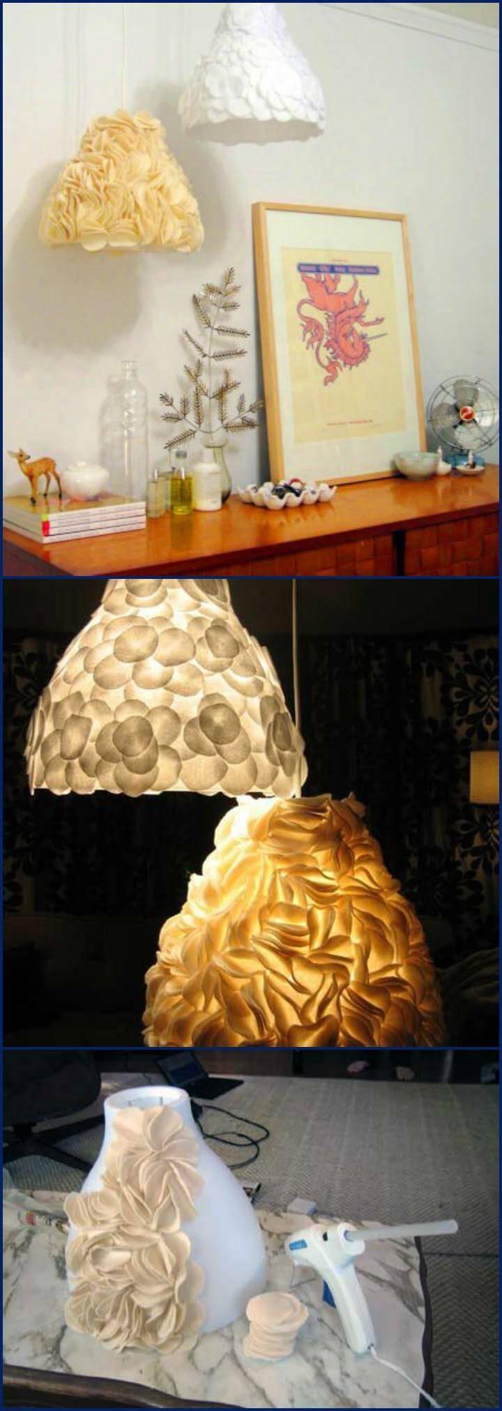 handmade sculptural pendant lamps