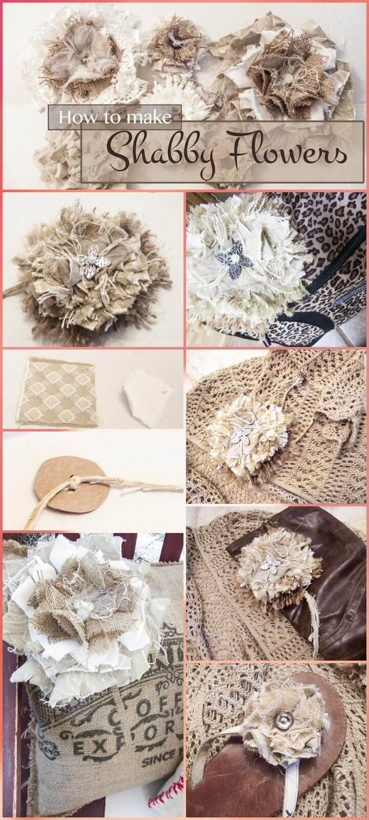 precious shabby flower tutorial