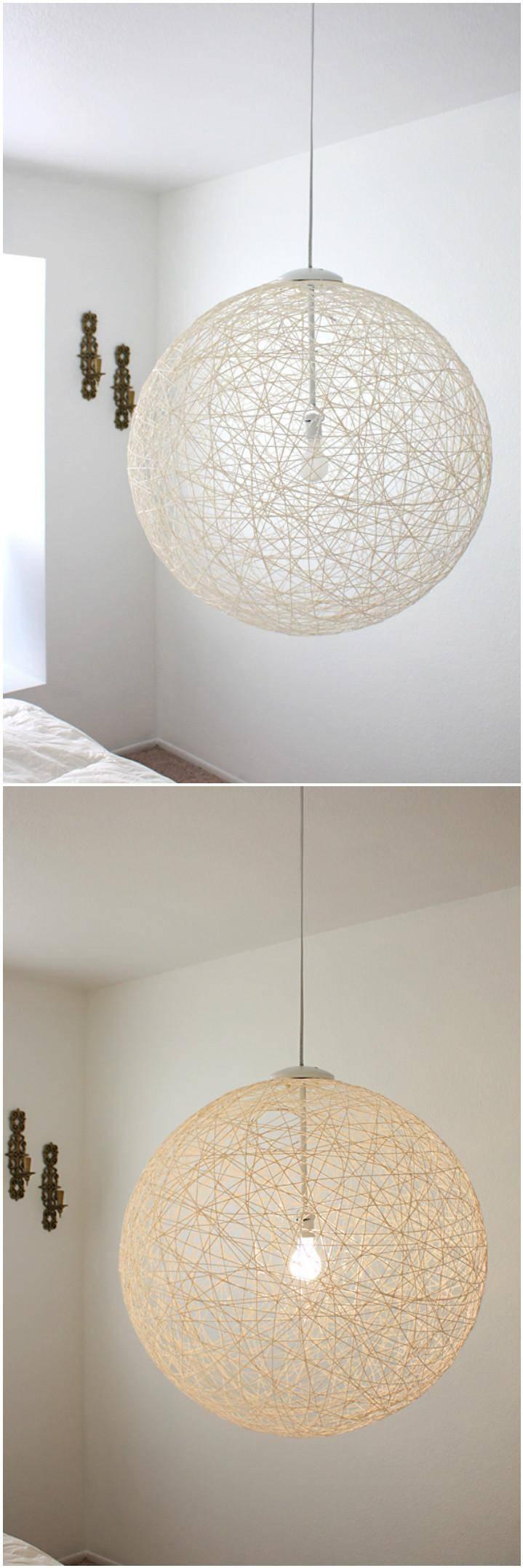self-made string pendant light