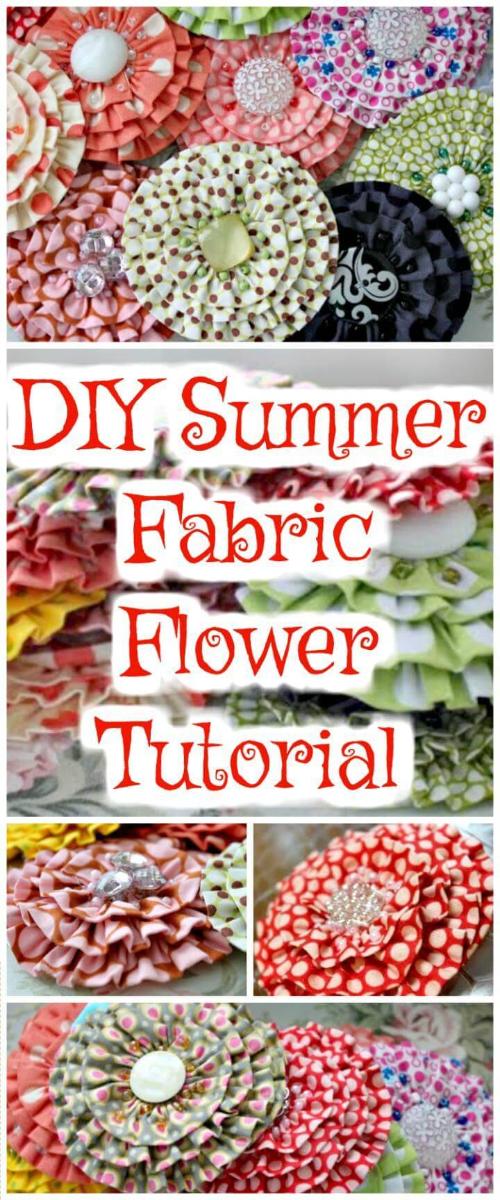 handmade summer fabric flower tutorial