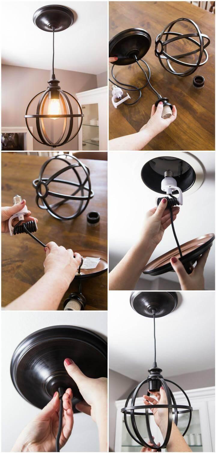 DIY beautiful pendant light