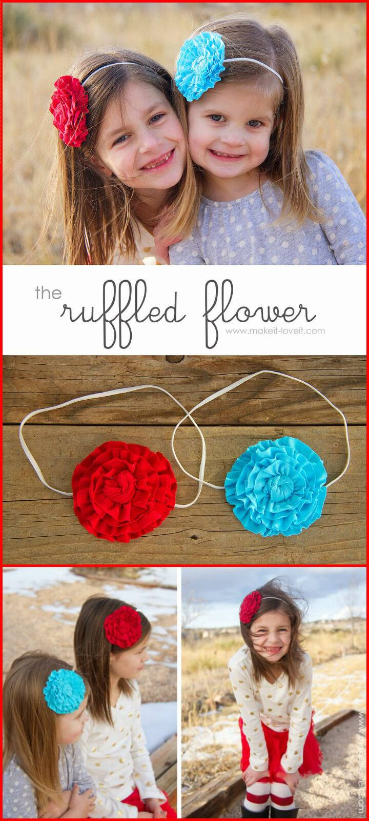 easy ruffled fabric flower tutorial