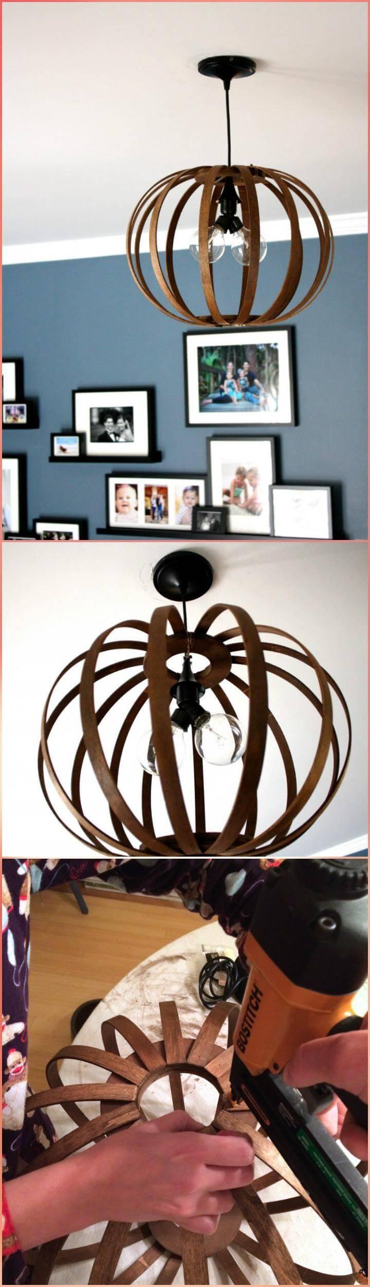beautiful bentwood West Elm DIY pendant light