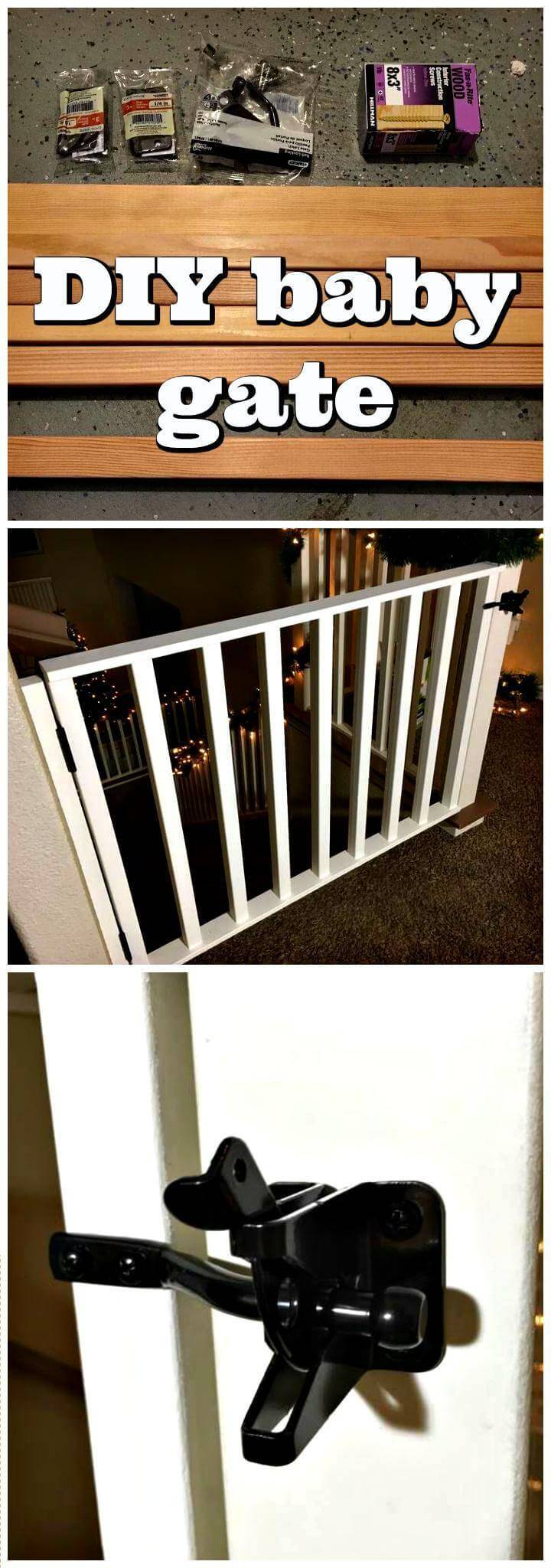 DIY baby gate step-by-step tutorial