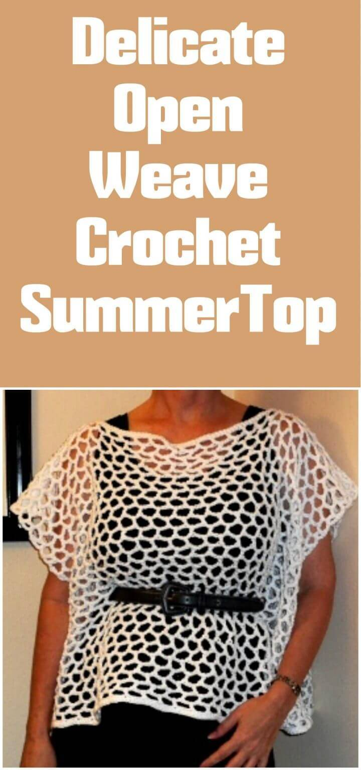 free crochet open weave delicate crochet summer top