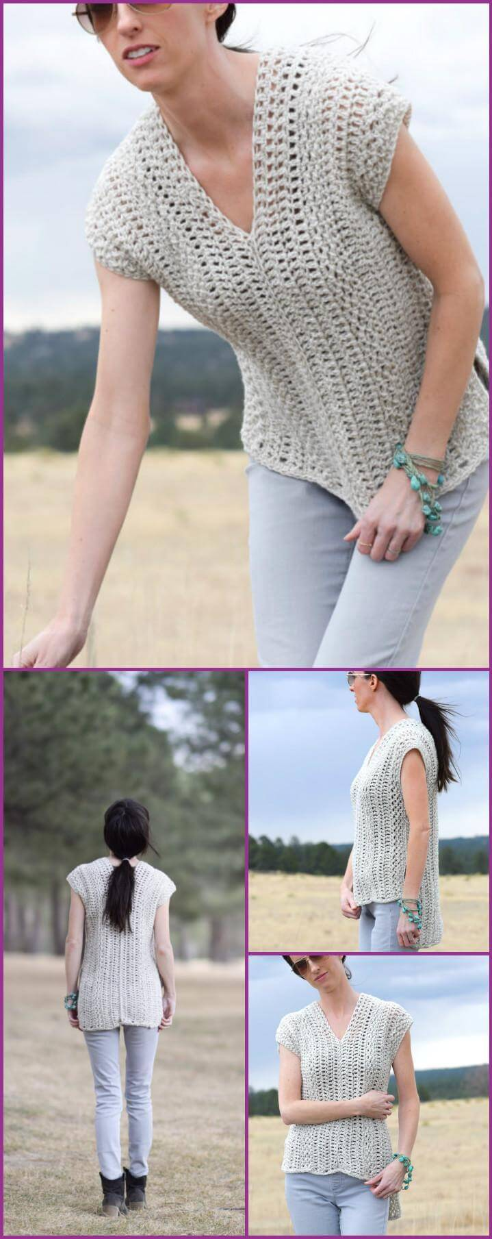 free crochet summer top or shirt