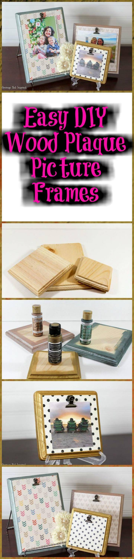 DIY wooden plaque picture frames