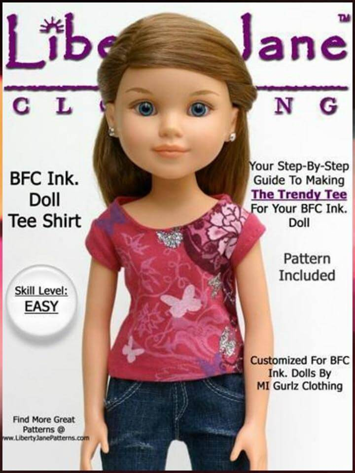 easy free t-shirt for large BFC ink dolls