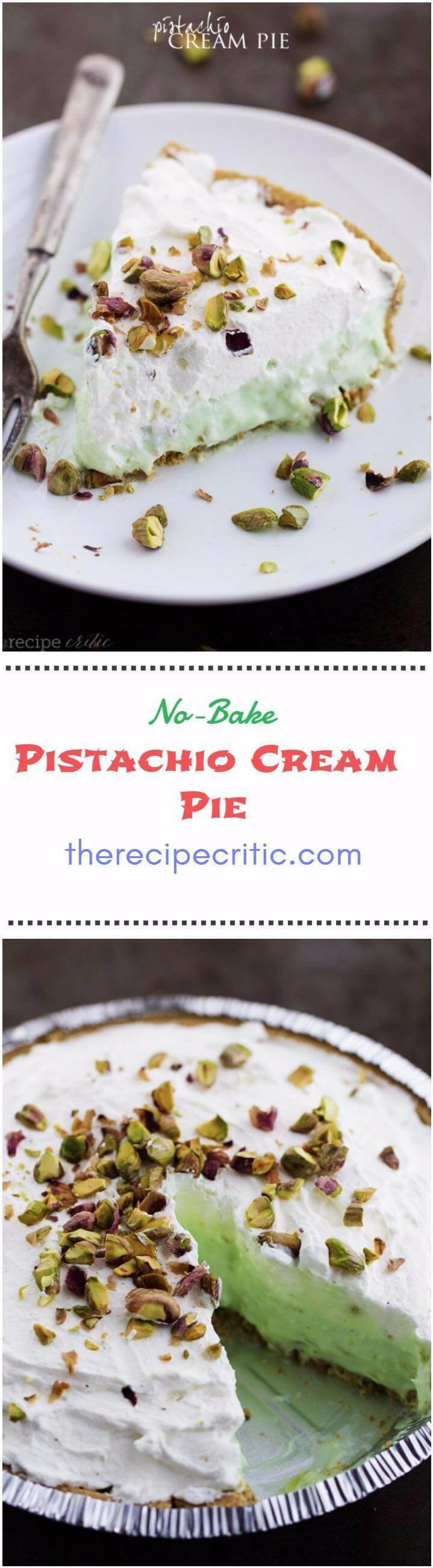 no-bake pistachio cream pie