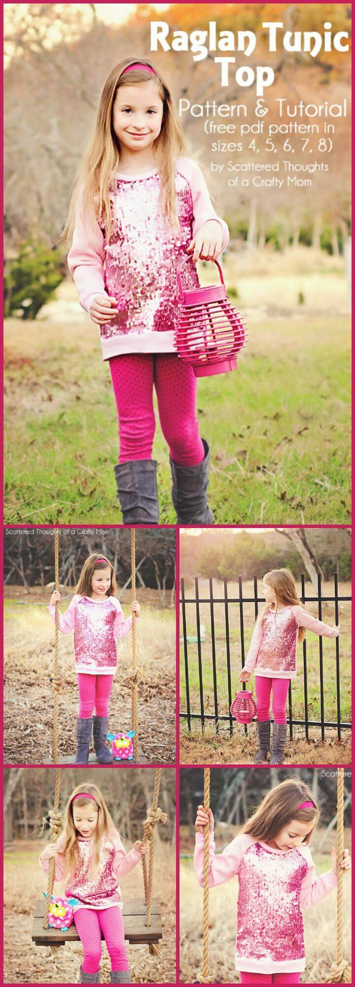 easy raglan tunic top free pattern